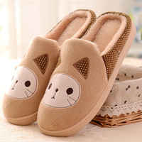 Cat Pattern Indoors Anti-Slip Flat Slippers