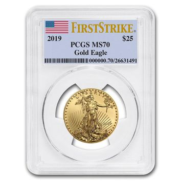 2019 1/2 oz Gold American Eagle MS-70 PCGS (First Strike)