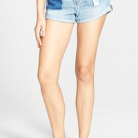 Junior Women's Billabong 'High Side - All Patched Up' Denim Shorts