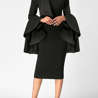 """Too Much Flare"" Sleeve Sheath Dress"