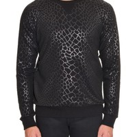 Crocodile-print cotton sweatshirt | Saint Laurent | MATCHESFASHION.COM US