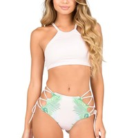 Lolli Swim Tropical Crop Top Bikini