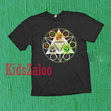 triforce the legend of zelda For T-shirt Unisex Adults size S-2XL Black and White