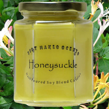 Homemade Blended Soy Honeysuckle Candle (Spring Floral Collection)  Free Shipping on Orders of 6 or more