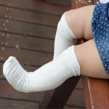 Autumn Baby kid socks for girls Newborn Toddler Knee High Lace Sock Long girls Cute Leg Warmers For Newborns Infantile Fox Socks