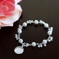 Personalized Romance Pearl Bracelet - David's Bridal