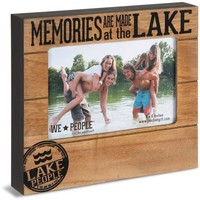 Memories are made at the Lake Picture Photo Frame