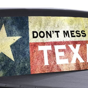Don't Mess with Texas Universal Truck Rear Window 50/50 Perforated Vinyl Decal