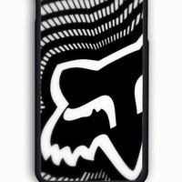 iPhone 6 Case - Rubber (TPU) Cover with FOX Racing Logo 2 Rubber Case Design