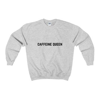 Caffeine Queen Adult Crewneck Sweatshirt