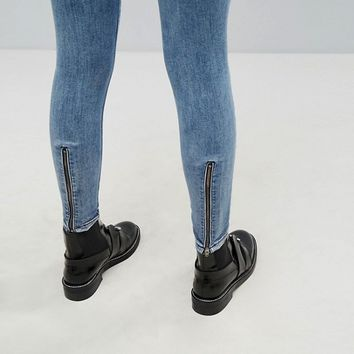 Dr Denim High Waist Jean with Back Leg Zips at asos.com