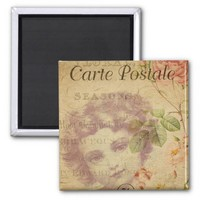 French Postcard Magnet