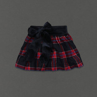 NEW Abercrombie & Fitch Blake Navy Plaid Skirt - Size Large