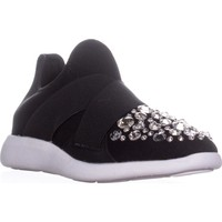 Aldo Dorea Pull On Embellished Fashion Sneakers, Black, 6 US / 36 EU
