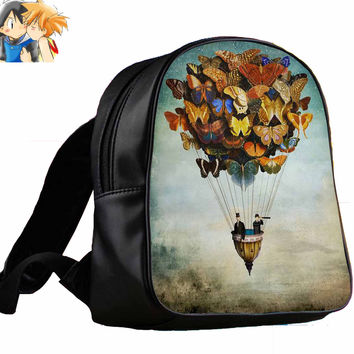 hot air balloon butterfly   for Backpack / Custom Bag / School Bag / Children Bag / Custom School Bag
