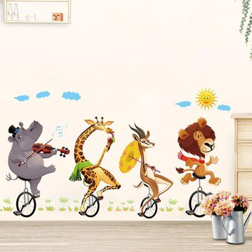 Lovely animal Pattern Baby Room Wall Stickers Kids Room Boy/Girl Bedroom Wall Decals Poster 60x90cm CP1695