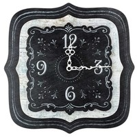 Black & White Chalk it Up 3D Wooden Clock | Shop Hobby Lobby