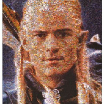 Lord of the Rings Legolas Photomosaic Poster 24x36