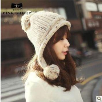 PEAPU3S 2017 Solid Adult Casual Mask winter Hats For Women Sphere Knitted Hat Autumn And Winter Ear Protector Cap beanie bonne femme