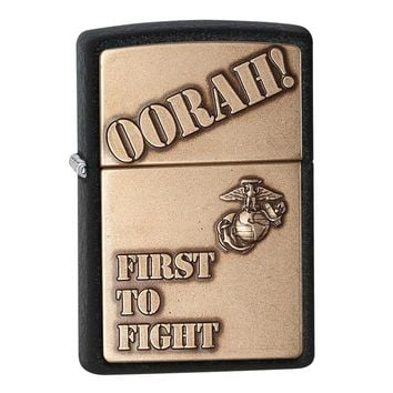 Zippo Marines First To Fight Black Crackle Lighter