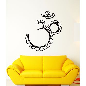 Vinyl Wall Decal Om Mantra Yoga Meditation Buddhism Stickers (3293ig)