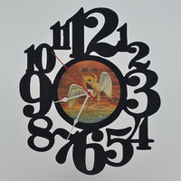 Handmade Vinyl Record Wall Clock (artist is Led Zeppelin)