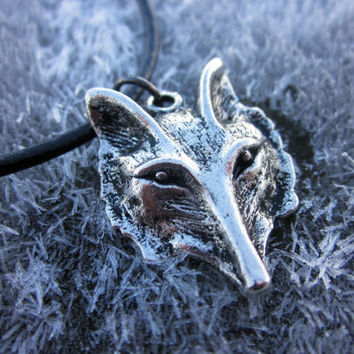 Fox /Wolf Necklace, Fox Jewelry, wolf necklace, Hipster, EPco, Boho, Hippie, Tribal, Mens Jewelry, Womens Jewelry by DiscoLemonade