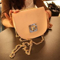 Multi-color Full Cowhide Mini Clutch Bag