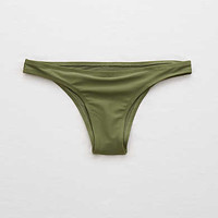 Aerie Cheekier Bikini Bottom, Rugged Green