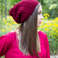 One Cold Day Beanie - Burgundy