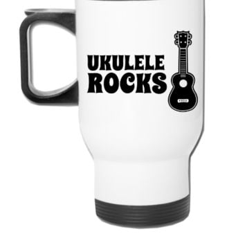 ukulele guitar - Travel Mug