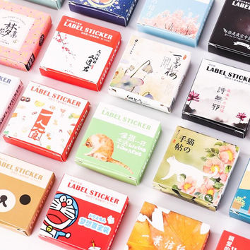 40 pcs pack Cute Box Package Decorative Sticker Set Diary Album Label Sticker DIY Stationery Stickers Escolar Papelaria