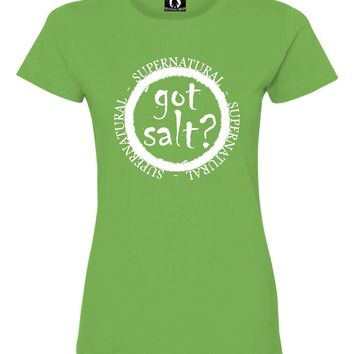 Womens Got Salt? Supernatural Deluxe Soft T-Shirt