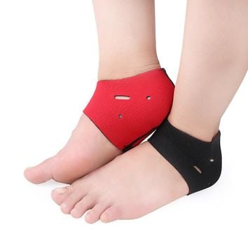 ETEREAUTY 2Pcs Plantar Fasciitis Therapy Wrap Heel Foot Pain Arch Support Ankle Brace Heel Warm Protector Insole Orthotic