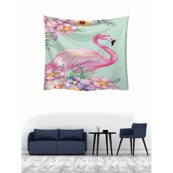 Flamingo Print Tapestry