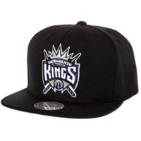 ONETOW Mitchell & Ness Men's Sacramento Kings Wool Solid Snapback