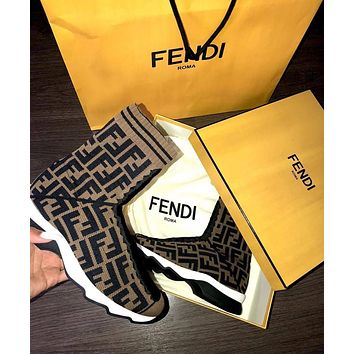 Fendi Sports elastic stocking boots-8