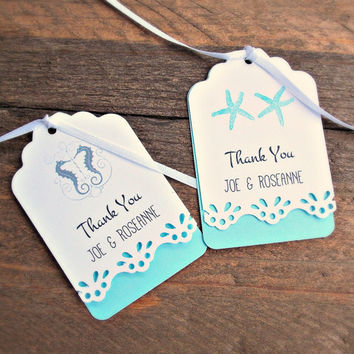 Custom Favor Tags for Destination & Beach Weddings , Bridal Showers and Engagement Parties