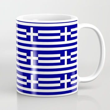 flag of greece 2-Greece,flag of greece,greek,Athens,Thessaloniki,Patras,philosophy,theater,tragedy Coffee Mug by oldking