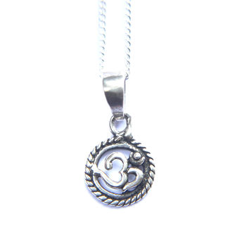 Pendant/ Necklace Series - Twisted Wire OM (Sterling Silver)