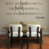 Bless the Food before us The Family beside us vinyl wall decal sticker