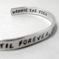 Friendship Bracelet - We'll Be Friends Until Forever - 2-Sided Hand Stamped Aluminum Cuff - customizable