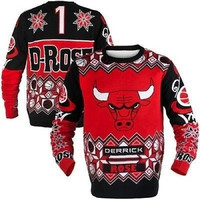 Derrick Rose Chicago Bulls Ugly Sweater Size XL with UPGRADED Priority Shipping