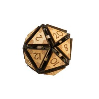 "20 Sided Dice - Art Kit - RAW Wood 1.5""x1.5"" (includes 1 die only)"