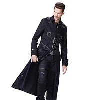 Winter Punk Jackets Men Steampunk Goth Gothic Long Coat Windbreakers Men Military Jackets Large Sizes Brand Clothing With Zipper