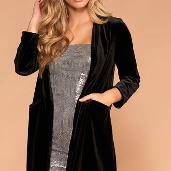 High Class Black Velvet Coat