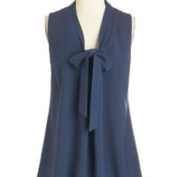 ModCloth Nautical Mid-length Sleeveless Happiest of Hours Top in Navy