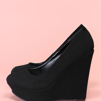 Single Ladies Wedge - Black