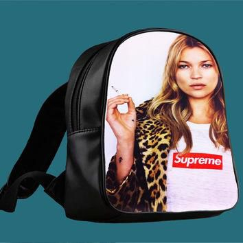 pretty kate moss supreme leopard for Backpack / Custom Bag / School Bag / Children Bag