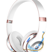 Painted Blue Summer Anchor Full-Body Skin Kit for the Beats by Dre Solo 3 Wireless Headphones
